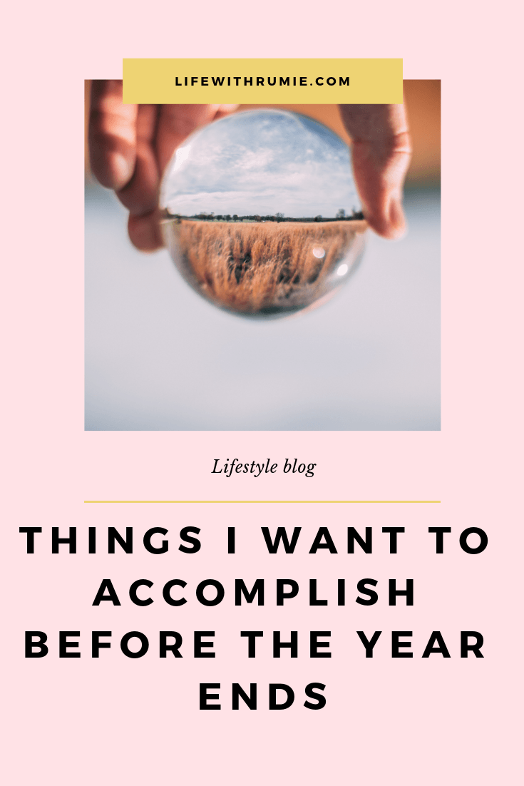 7 things I want to accomplish this year