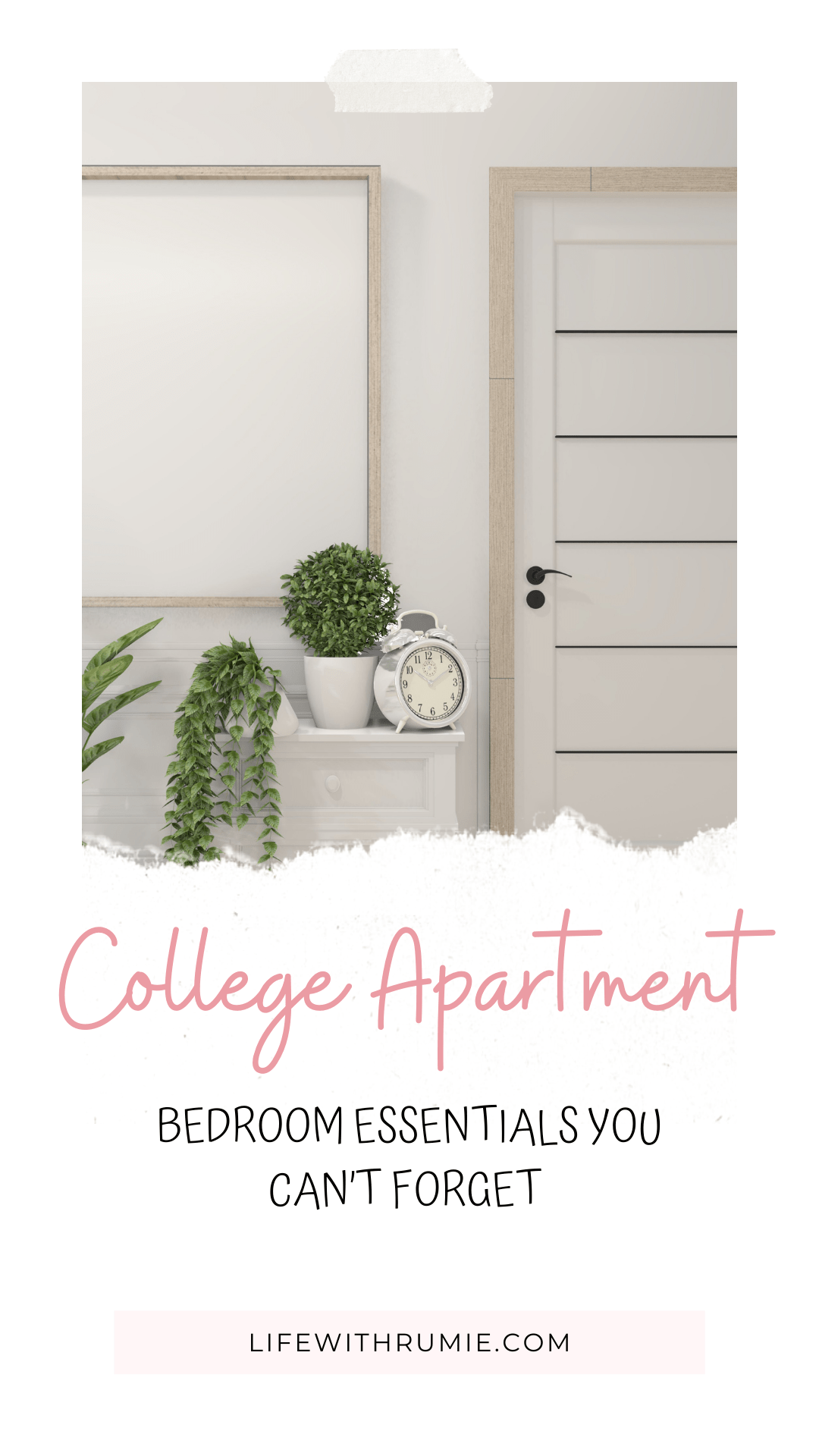 college apartment bedroom essentials you need